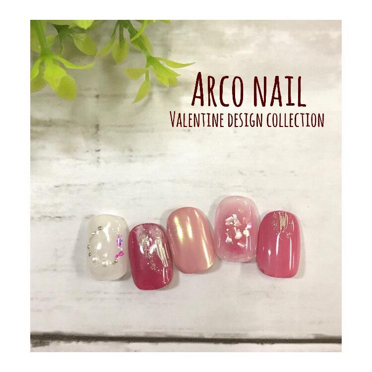バレンタインネイル 2017 福岡 arco nail キャンペーンデザイン