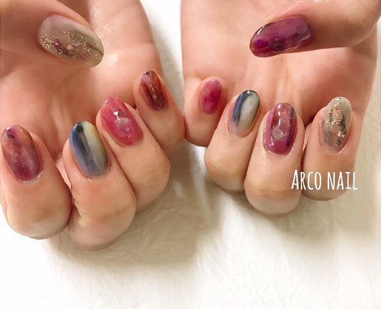 天然石アート ネイルデザイン 福岡 arco nail 2017-10-19 23-33-33