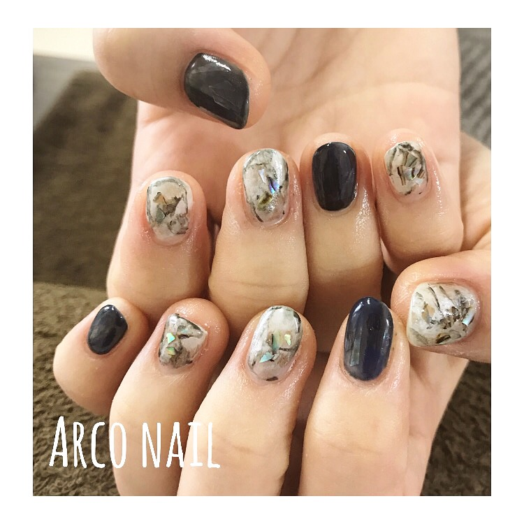 天然石 ネイル 春 2017 デザイン61