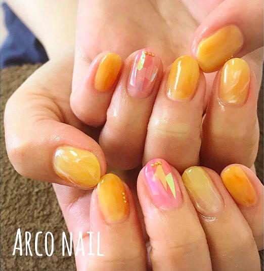 yellow nail desing 2017-1