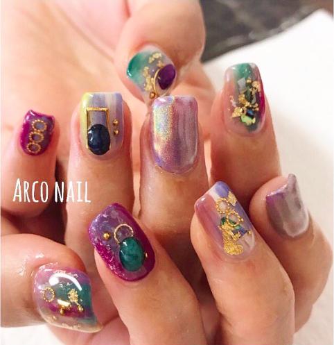 arco nailarco nail ユニコーンパウダー 2017-08-29 22-54-48