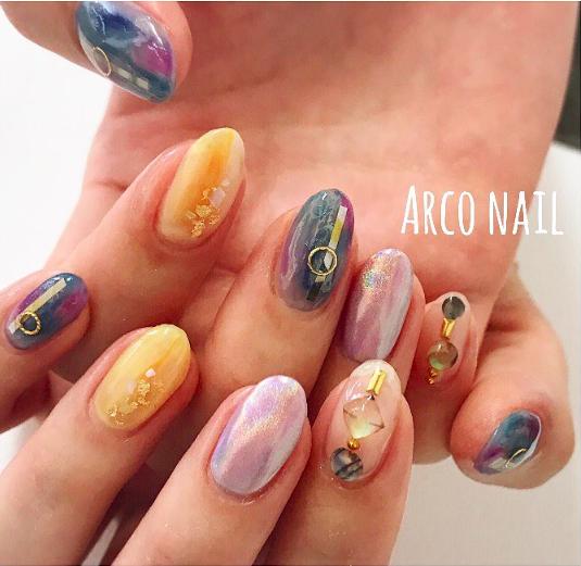 arco nail ユニコーンパウダ2017-08-12 16-21-06
