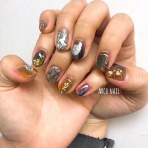 ミラーネイル 2018 デザイン 福岡天神arco nail 2017-11-06 12-08-19
