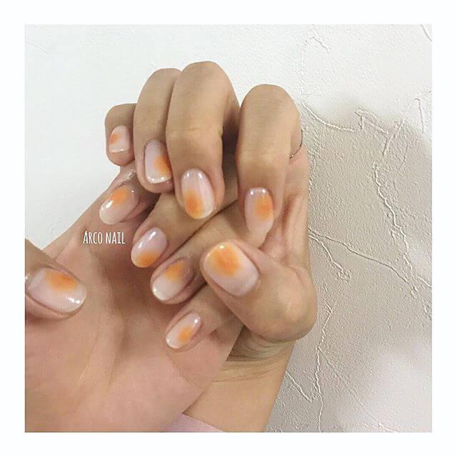 【2018春夏】オレンジネイルのトレンドデザイン 2