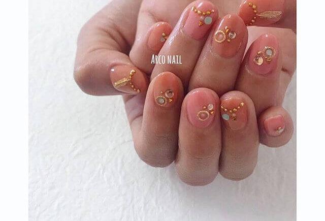 【2018春夏】オレンジネイルのトレンドデザイン 1