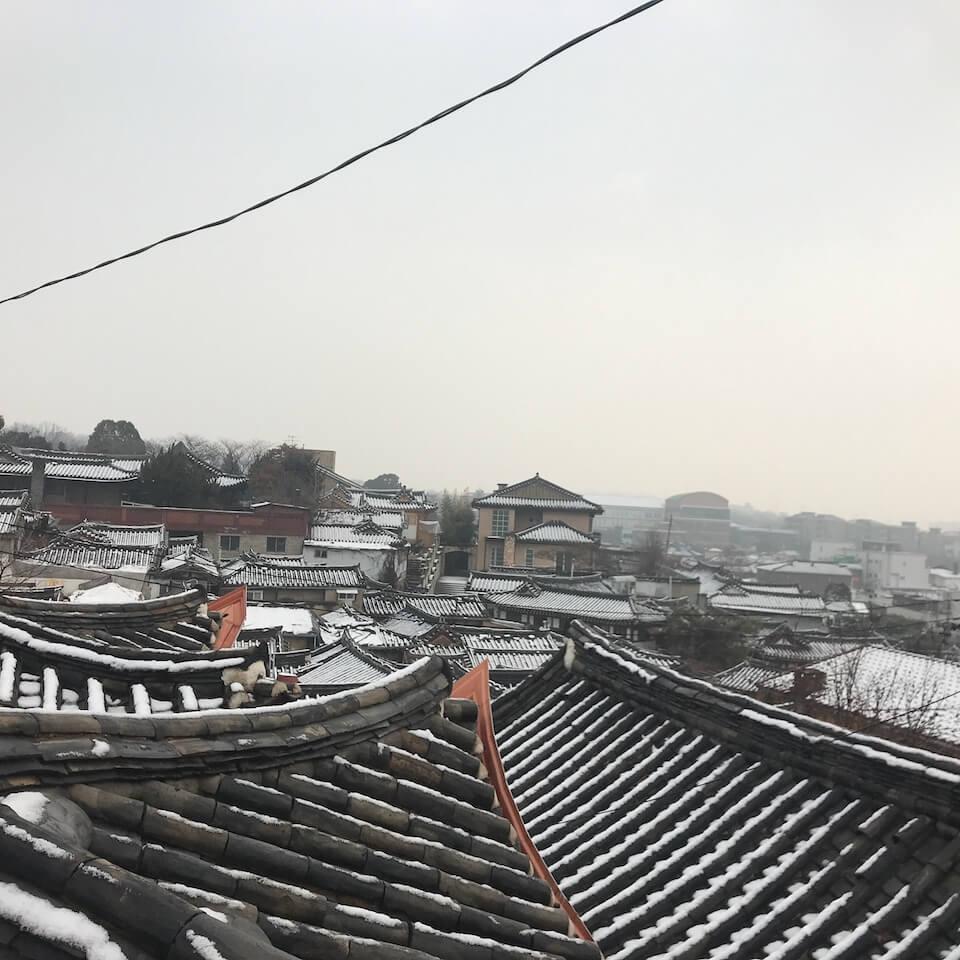 ソウル 2泊3日 グルメ 食べ歩き プラン 北村韓屋村 坂の上
