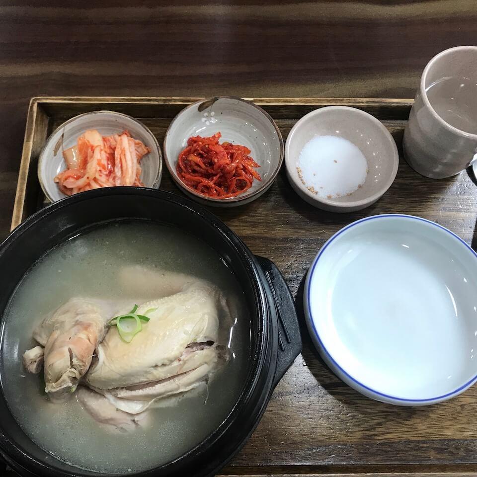 韓国2泊3日グルメ旅 秀家 サムゲタン
