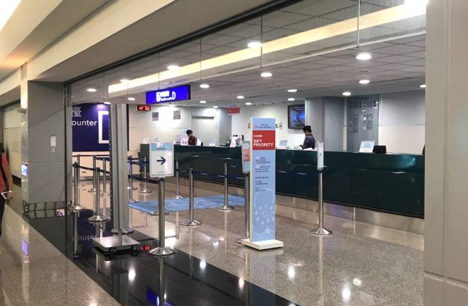 台北桃園空港 乗り継ぎカウンター チャイナエアライン