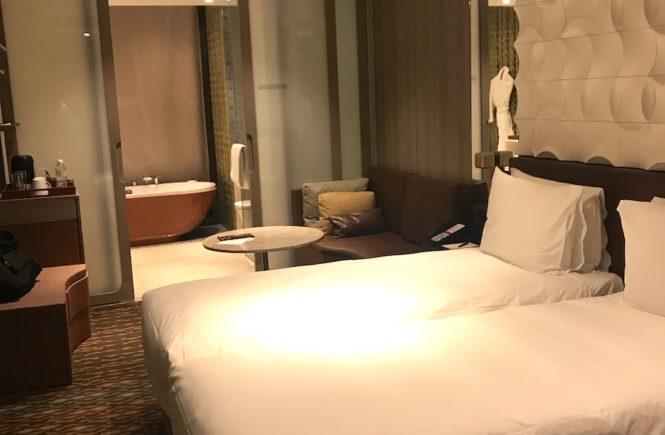 シンガポール航空 遅延 ホテル 部屋の様子