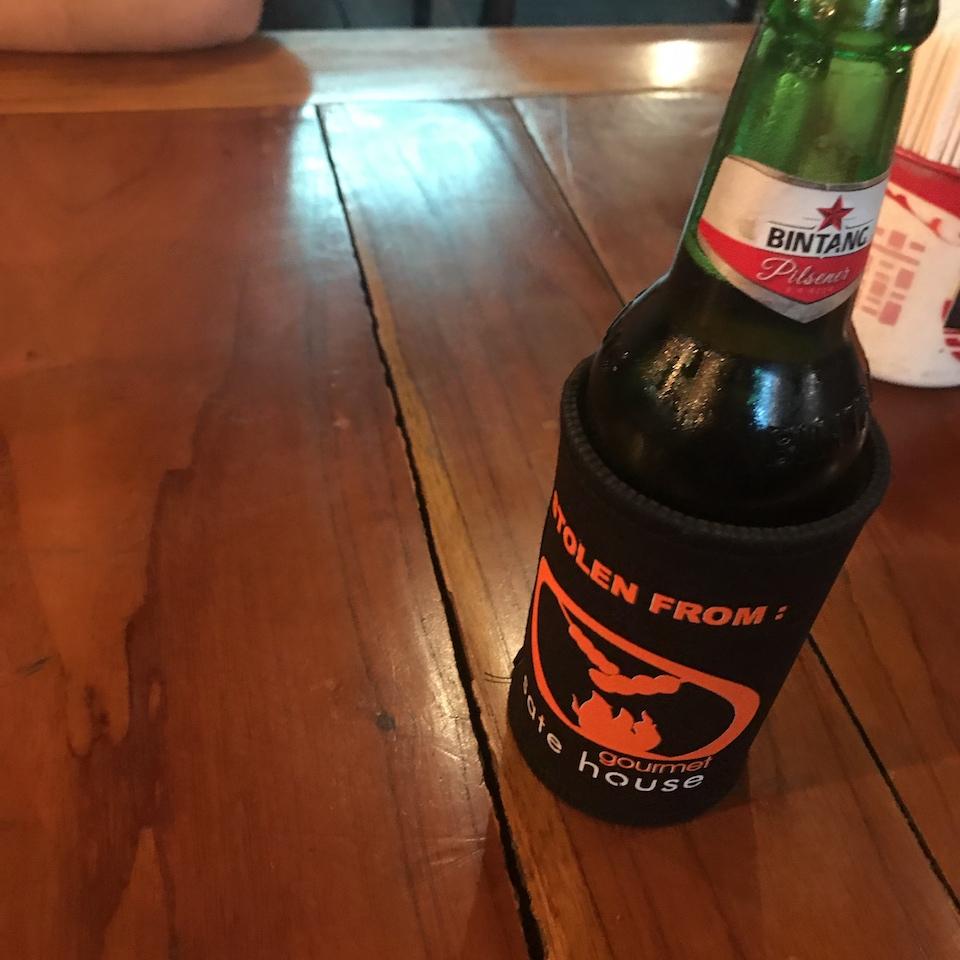 バリ島 ディナー おすすめ クタ さてハウス ビンタンビール