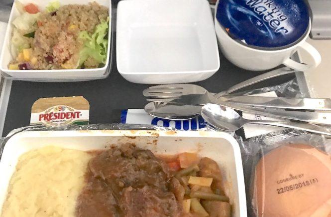 シンガポール航空 機内食 2018 ミート