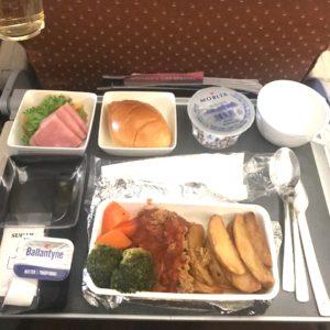 シンガポール航空 機内食 2018 ビーフ