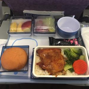中華航空 台湾桃園空港 機内食