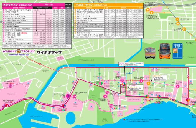 ピンクライン 停留所ルート地図