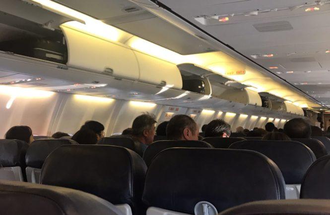 ティーウェイ航空 機内