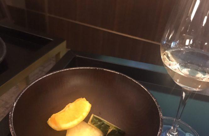 仁川 ラウンジ SKY HUB 白ワイン