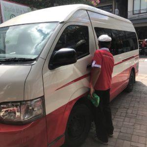 プラマバス ワゴン バス停