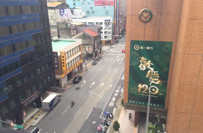 ホテル リラックスV 台北駅前(旅樂序精品旅館5館)窓の外の様子