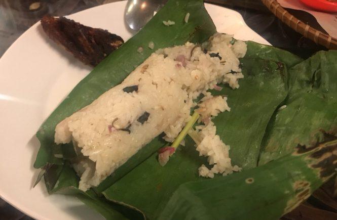 バリ島 インドネシア料理 ディナー ナシコンプリート チマキ