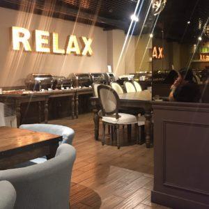 ホテルリラックス2 朝食 地下1階 内装