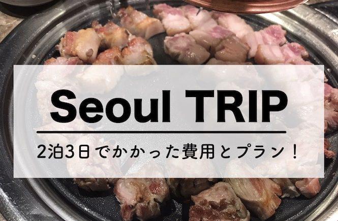 ソウル 旅行 ブログ 2018 費用
