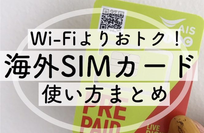 海外旅行 費用 節約 SIMカード