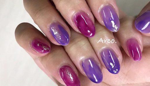 パープル(紫) ネイルデザインまとめ【2020夏最新】